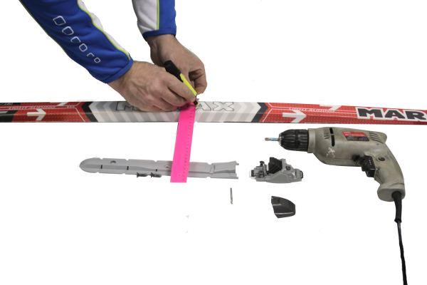 лыжное крепление на один